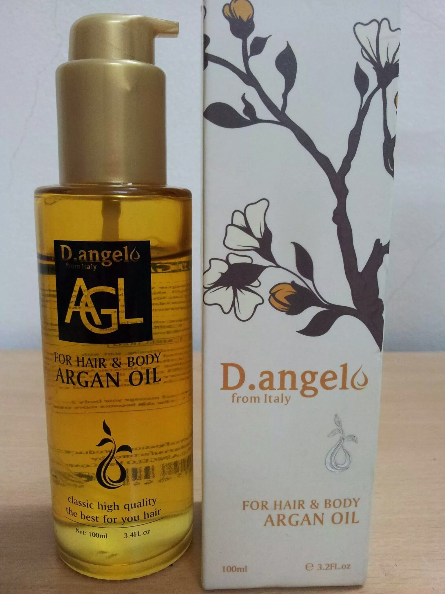 Tinh dầu D.angello Argan Oil 100ml