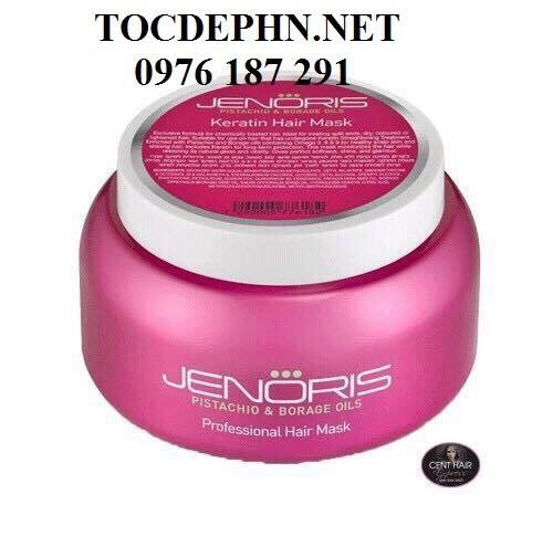 Jenoris KERATIN HAIR MASK( Double Keratin New) Hấp siêu phục hồi Keratin 500ml